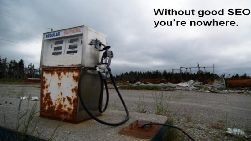 photo of a rusty petrol pump